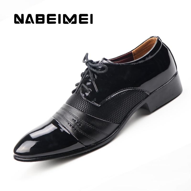 Derby shoes cheap men shoes leather 2017 big size 38-47 patchwork lace up men flat shoes dress PU breathable chaussure homme