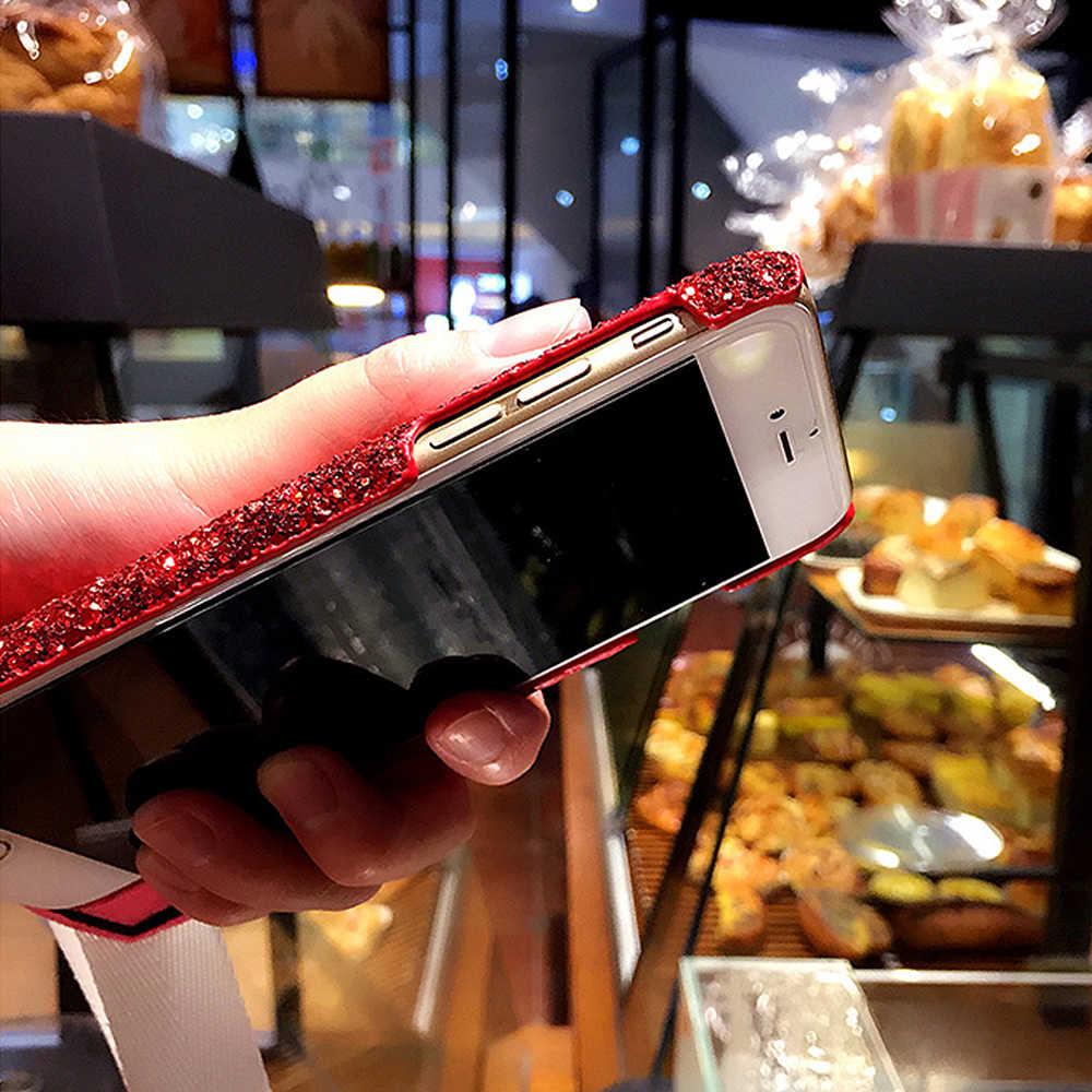 עבור Samsung Note10Plus Note9 Note8 S10 S9Plus S7Edge טלפון תיק Blingbling גליטר יהלומי פנינה צמיד שרשרת פרווה כדור טלפון מקרה