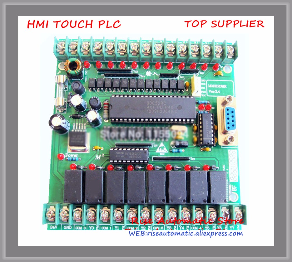 New Original 20MR Single board plc STM32 MCU 12 input point & 8 output point new original cp1l l20dt d plc cpu 24dc input 12 point transistor output 8 point