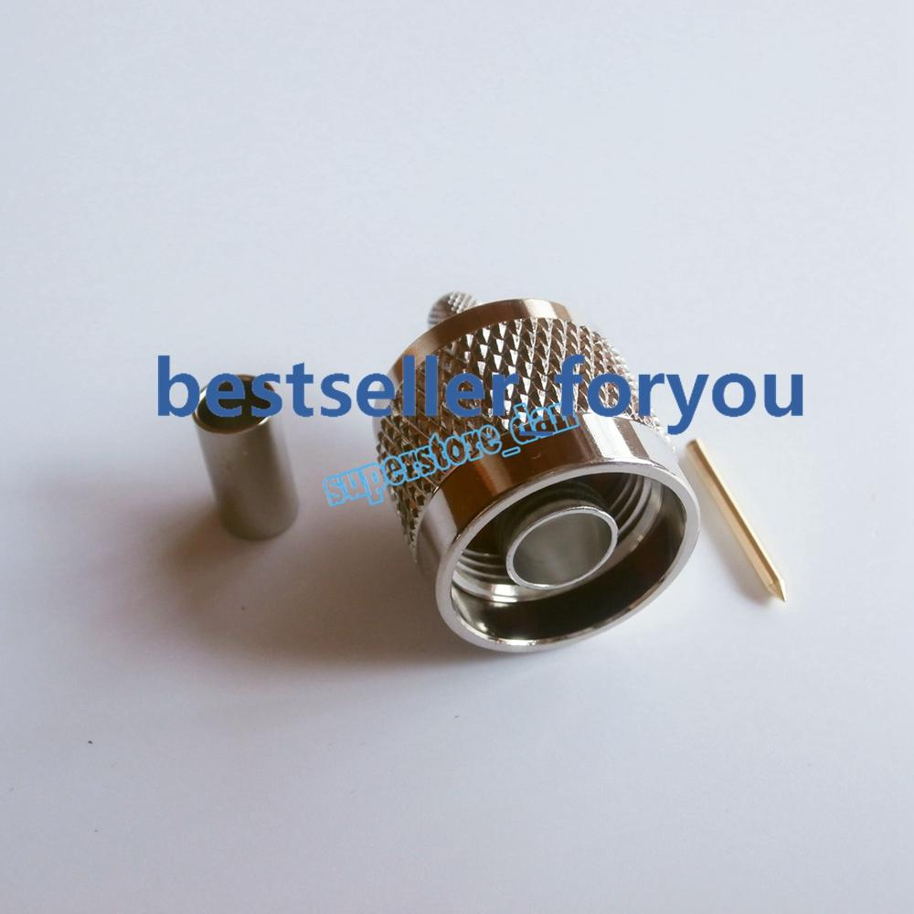 1 x FME Male with Male pin crimp RG58 RG142 RG400 LMR195 cable RF Connector USA