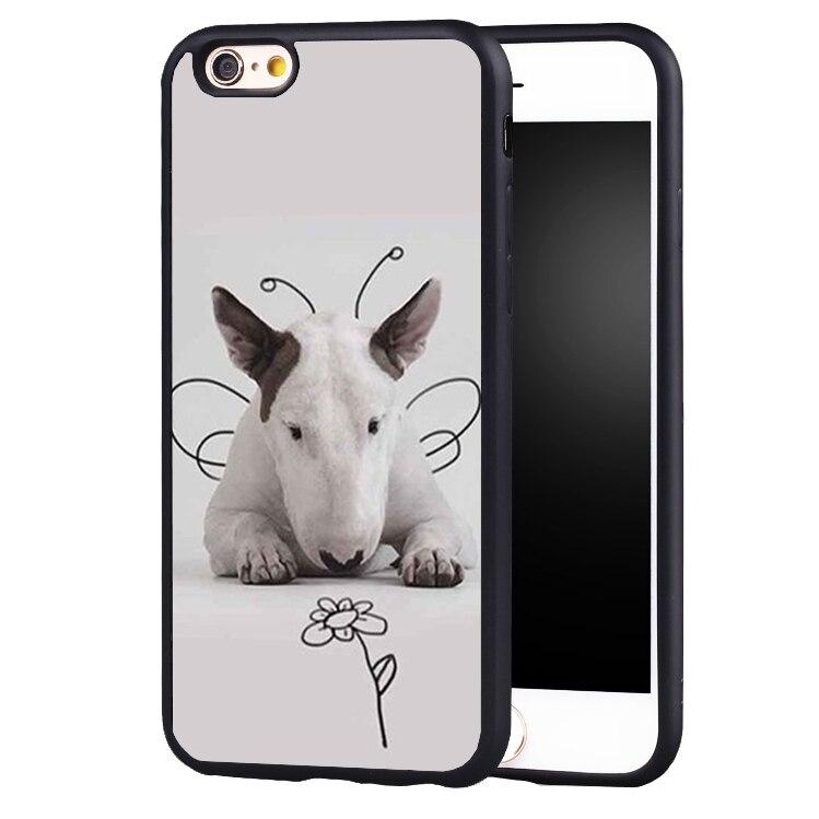 Bullterrier Bull terrier Cute Lovely case cover for iphone 7 7plus 6 6splus 5 5s 5c SE