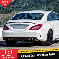 For Benz W218 Spoiler ABS Material Car Rear Wing Primer Spoiler For Benz W218 CLS300 CLS350 CLS63 Spoiler 2012 2015