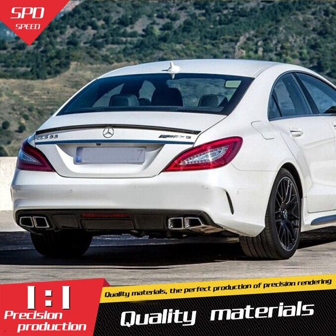 Pour Benz W218 Spoiler ABS matériel voiture aileron d'aile arrière pour Benz W218 CLS300 CLS350 CLS63 Spoiler 2012-2015