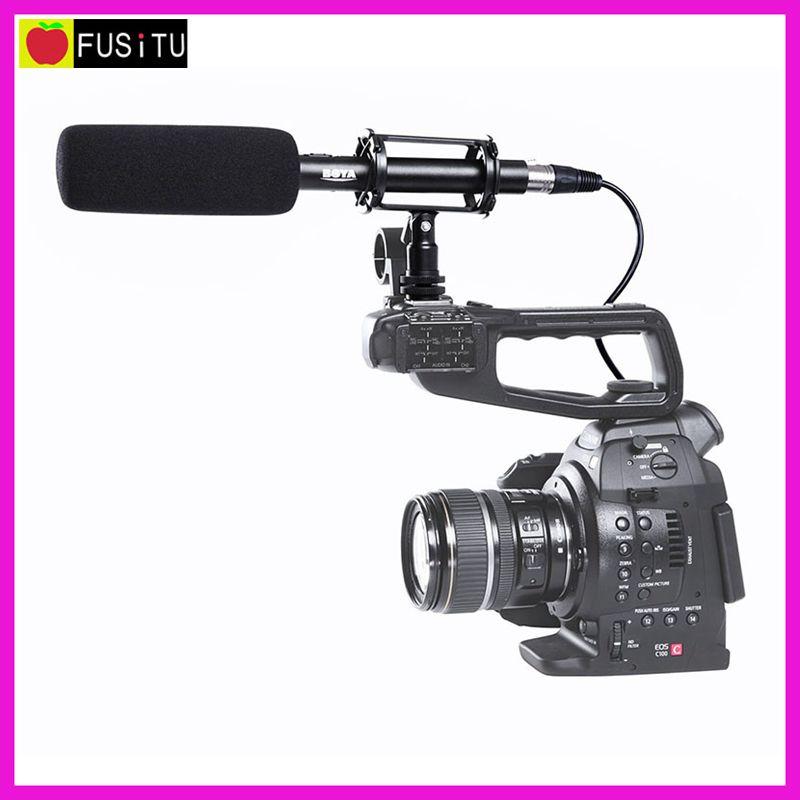 Prix pour 3 Broches XLR Sortie sur DSLR Caméras Pro BOYA BY-PVM1000 Condenseur Shotgun Vidéo Caméra Microphone