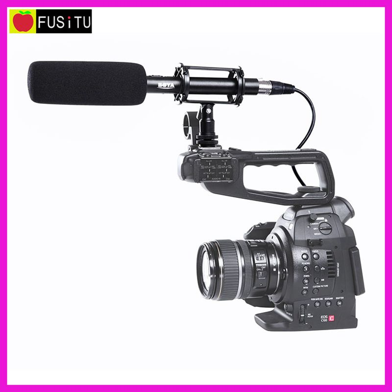 3 Pin XLR Output on DSLR Cameras Pro BOYA BY-PVM1000 Condenser Shotgun Video Camera Microphone