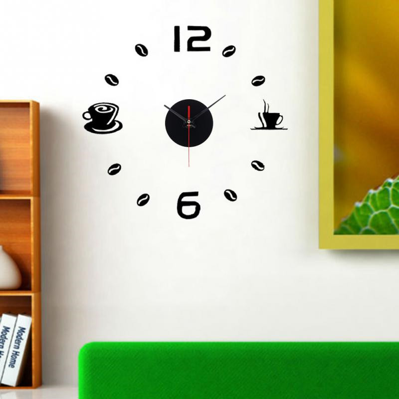 diy wall clocks modern coffee cups design home decor living room kitchen clockchina