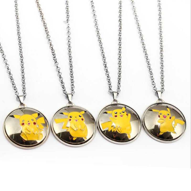 ORP Anime game theme products Pokemon Go nceklace Pikachu can turn pendant necklace fine accessories wholesale