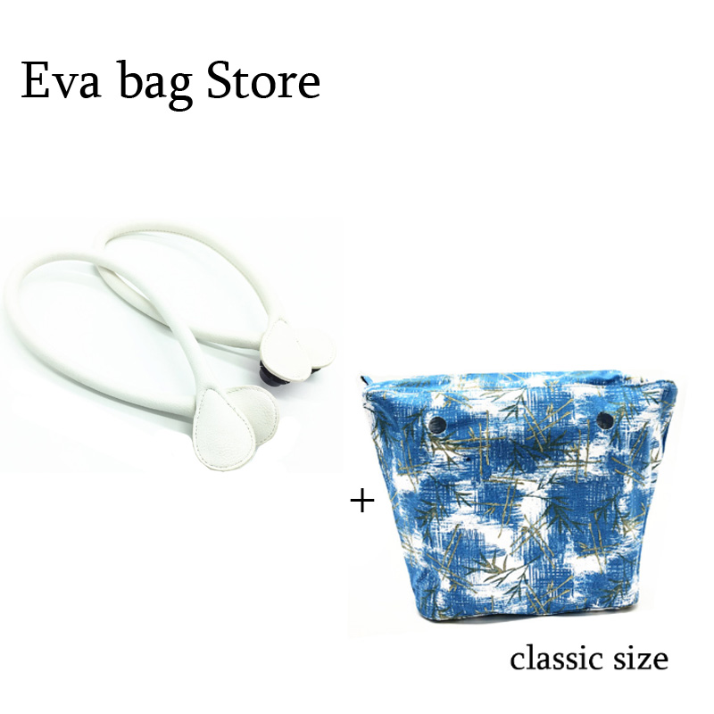 handles and inner bag lining pocket set for o silicone bag handle rope and insert pocket set new colorful cartoon floral insert lining for o chic ochic canvas waterproof inner pocket for obag women handbag