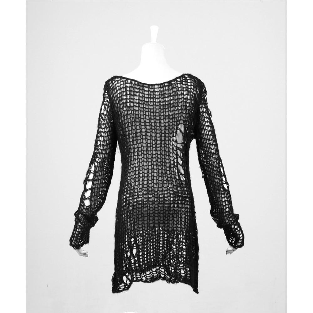 Punk Gothic SWEATER Visual Kei mode Kera Black Shirt Top TOP Black - Dametøj - Foto 6