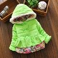 2015 хлопка ребенка зимние-мягкие одежды девушки теплое зимнее пальто расстроен женского пола ребенка хлопка ватнике зимняя одежда детей BC009