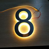 Customized Stainless Steel Backlit 3d Led House Number Letters For Outdoor