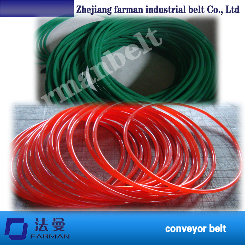 цены Hot sale 8mm pu rough green round belt