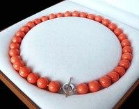 Naturale AAA + 12mm arancione colore rosso shell della perla di modo della collana 18 ''AAA stile Belle Nobile reale Naturale spedizione gratuita
