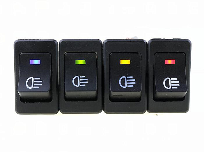 1Pcs LED On//Off Indicator Rocker Toggle Switch Driving Fog Lamp//Work Light Bar
