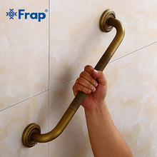 Frap Brass High Quality Bathroom Handrail Brushed Bathtub Handrail Safety Grab Bar The Old man Bathroom Toilet Armrest Y81054(China)