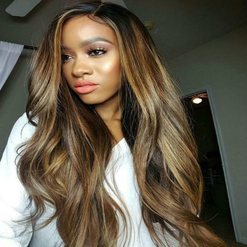 BEAUDIVA Pre Colored Human Hair Weave P4 27 Body Wave 3 or 4 Bundles Remy Brazilian