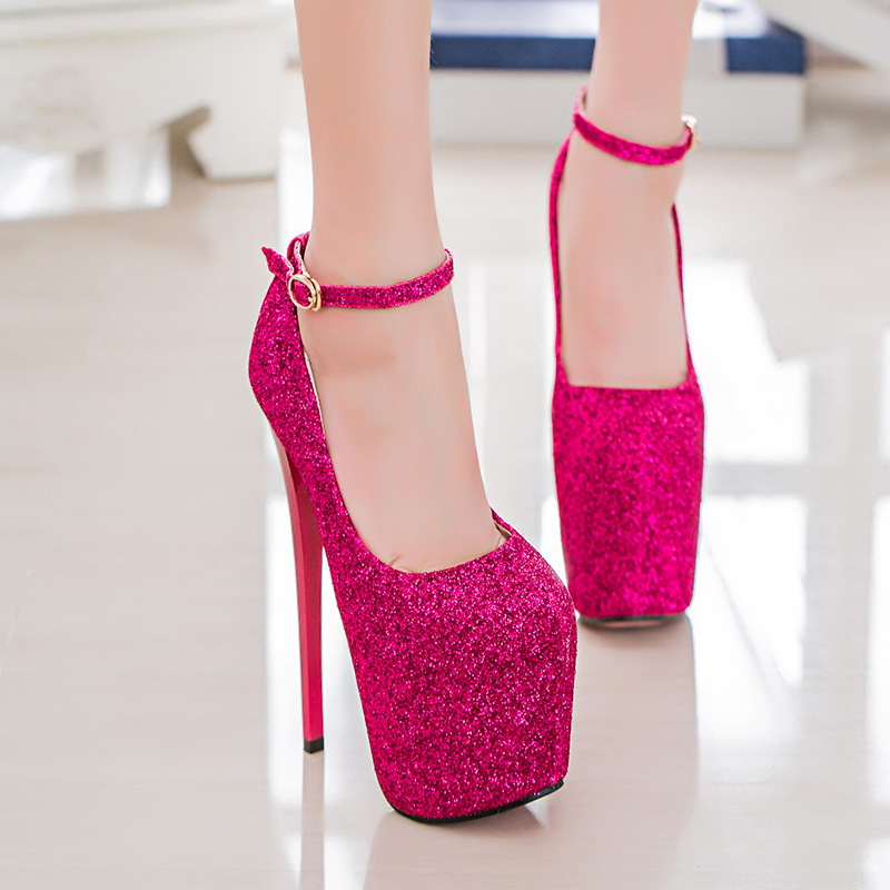 Big Size 35 43 High Heels Women Sexy Super High Heel 20cm Platform ...