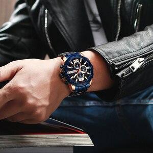Image 4 - Curren Heren Horloges Top Brand Luxe waterdichte Mode Quartz Man Horloges Rvs Chronograaf Horloges Man 2019