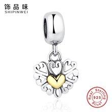 925 Plata Esterlina Del Corazón Del Amor Del Grano Del Encanto Fit Pandora Original Pulsera Collar de Lujo Auténtico Regalo de La Joyería DIY Para El Amante