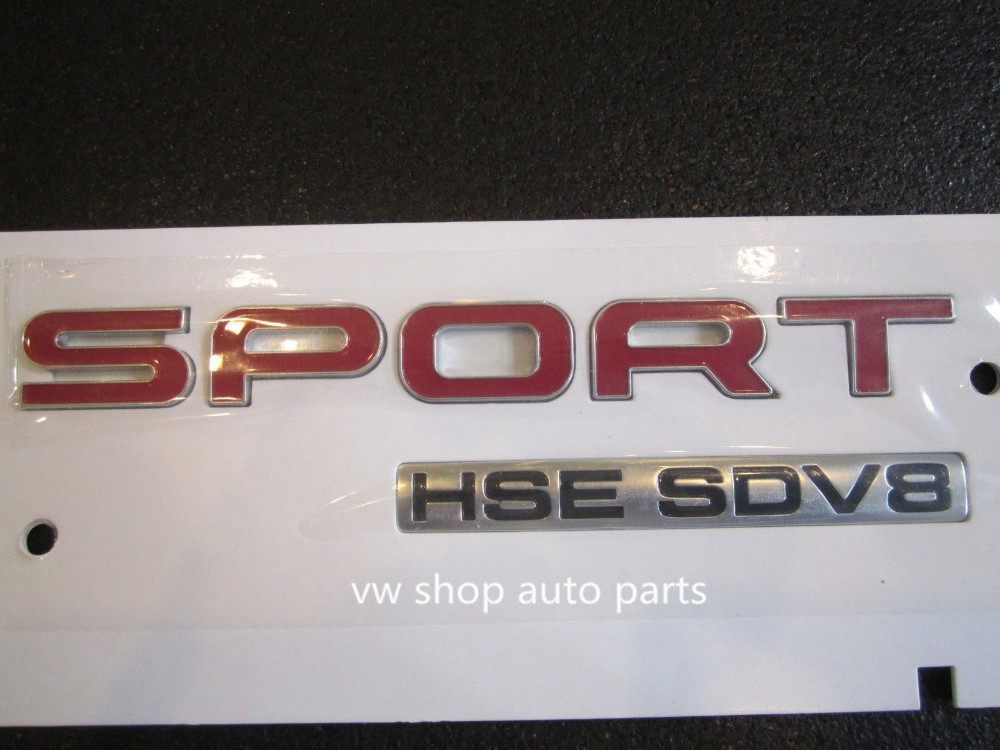 OEM quality RED FOR LAND RANGE ROVER SPORT HSE SDV8 SUPERCHARGED BADGE LOGO EMBLEM DECA подвеска компрессор насос oem крышка для land rover lr044026 lr044027