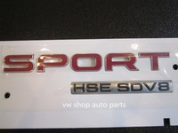 OEM quality RED FOR LAND RANGE ROVER SPORT HSE SDV8 SUPERCHARGED BADGE LOGO EMBLEM DECA
