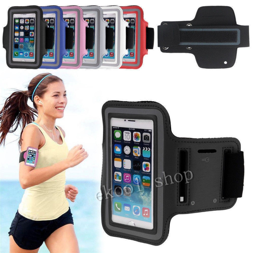 New GYM Workout Sport Arm Band PU Leather Cover shell Workout Pounch Belt For Samsung All S7 edge case Bag Arm Band Phone Cases porta celular para hacer ejercicio
