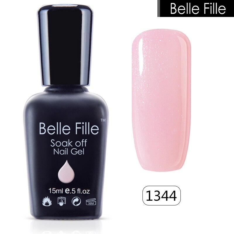 Gel Nail Polish Light Pink: Aliexpress.com : Buy Belle Fille Bling Glitter Gel Nail