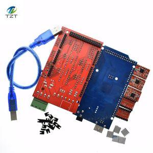 Image 4 - Mega 2560 R3 para Arduino + 1 Uds., controlador 1,4 + 5 uds. Módulo controlador A4988 paso a paso, kit de impresora 3D Reprap MendelPrusa