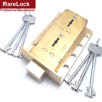 Rarelock BMMS409 Brass Valt Lock for Safe Box Cabinet Door Use Both 2group Keys to Open High Security Hardware