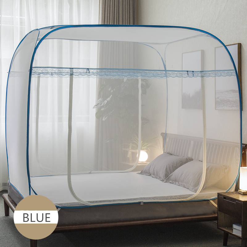 Large Mosquito Net For Double Bed Portable Polyester Canopy Netting Universal Bed Tent Mesh For Camp Girls Bed Tent cibinlik NetLarge Mosquito Net For Double Bed Portable Polyester Canopy Netting Universal Bed Tent Mesh For Camp Girls Bed Tent cibinlik Net
