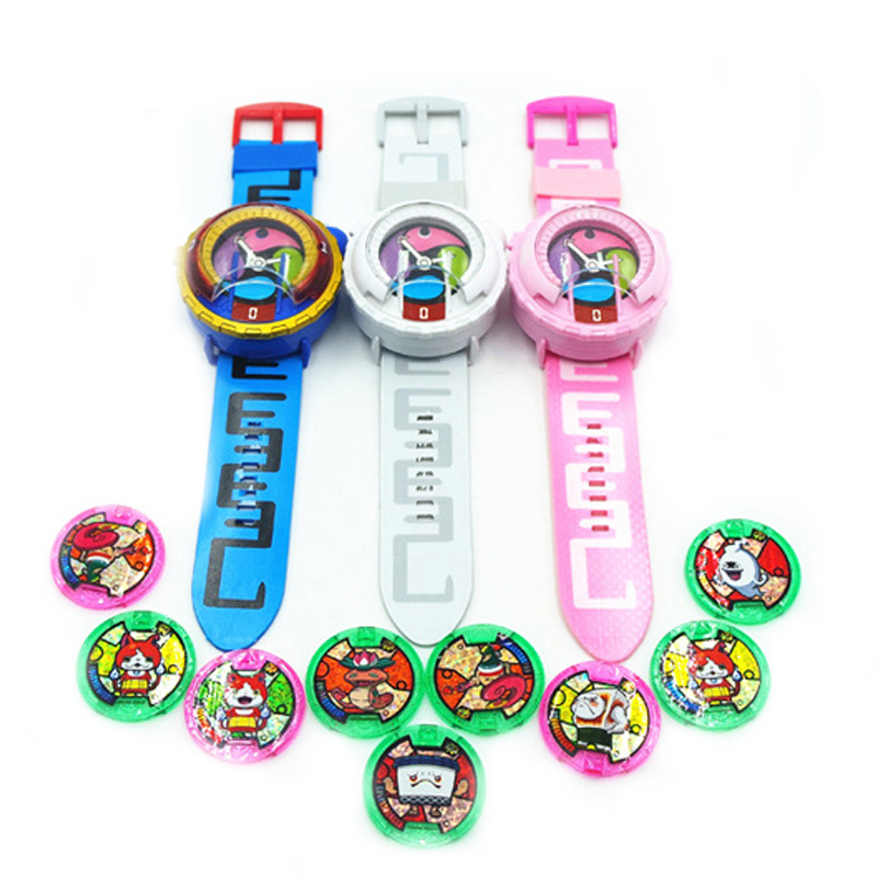 2017 Anime Peripheral Yo-Kai Watch DX Yokai Watch Kids Toy With 3 Medals & Music Educational Toys Best Gifts