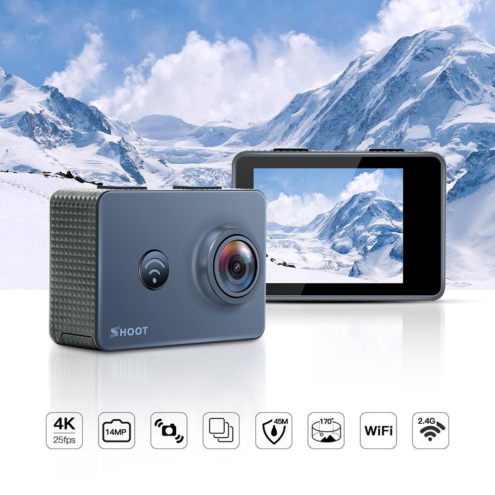 Caméra d'action 4 K caméra WiFi Ultra HD 14MP 1080 P/60FPS étanche caméra de Sport avec 170 grand Angle objectif accessoire Set pour Go Pro