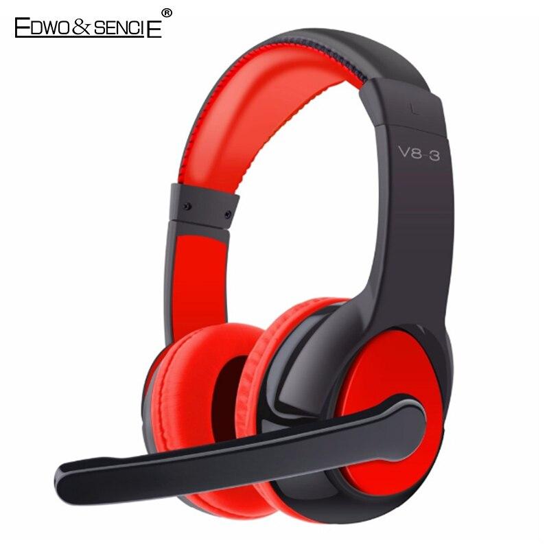 bilder für EDWO V8-3 Drahtlose Kopfhörer Bluetooth V4.0 Mit Mic Sport Kopfhörer Noise Cancelling Stereo Musik Headset Tf-karte fone de ouvido