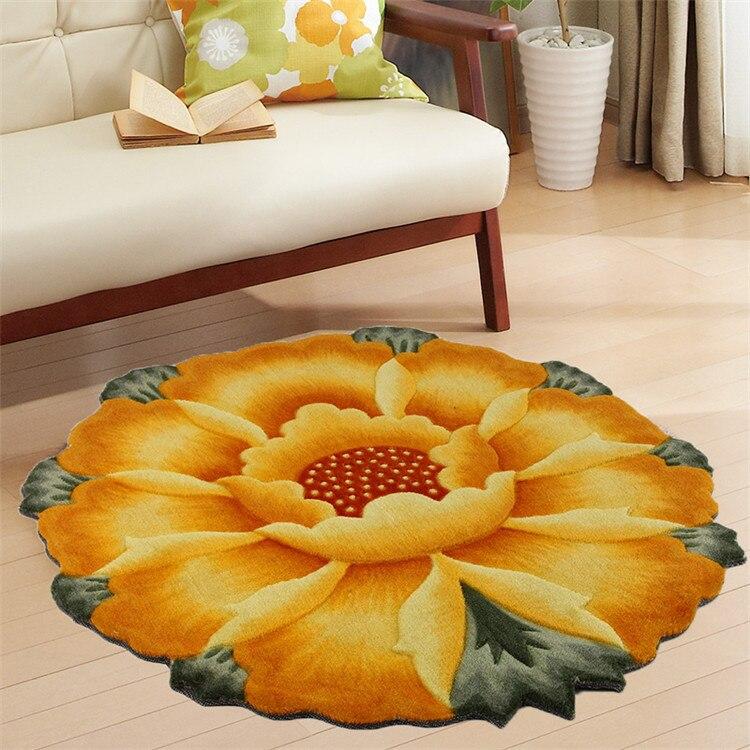 3D creative fleur tapis en plein air tapis paillasson Chambre Salon Table à Thé Tapis Cuisine Salle De Bain Antidérapant Tapis