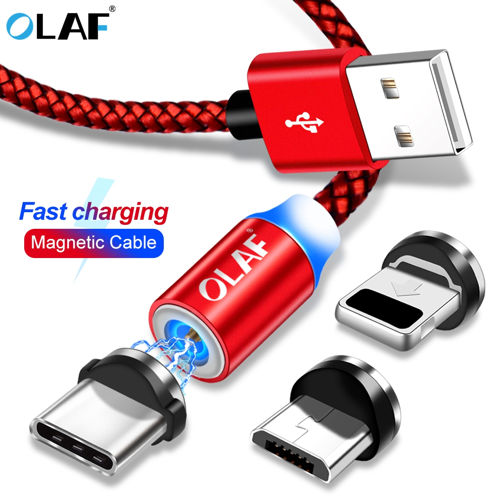 Olaf Magnetische Kabel Geflochtene Led 2.4a Schnelle Lade Typ C Micro Usb Magnet Kabel Für Iphone Xs Max Xs Xr X 8 7 6 Samsung Huawei GroßEs Sortiment