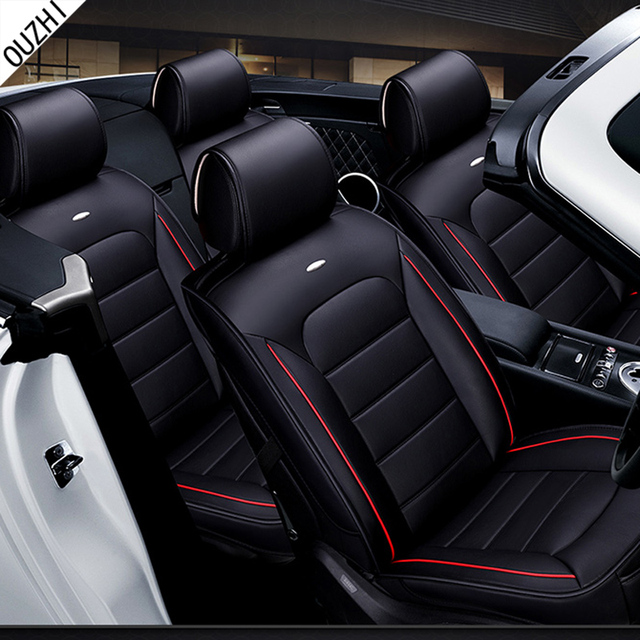 Wear Resisting Pu Leather Car Seat Covers For Toyota Corolla Honda Civic Hyundai Accent Front