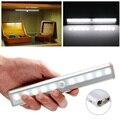 10 leds LED PIR Motion Sensor Light Battery & USB Rechargeable Power Night Light For Pathway Staircase Wall Fridge Closet Light