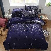 Accueil Textile Housse de Couette Bande Dessinée étoilé étoiles Anglais style dortoirs de famille Enfants 3 pcs/2 pcs Couette taie d'oreiller