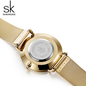 Image 3 - Shengke Women Bracelet Watches Luxury Gold Female Quartz Watch Reloj Mujer 2019 SK Ladies Watches Christmas Gift #K0059