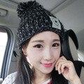 Velvet Knitted Hat Women Autumn Winter Warm Hat For Women Hat Fashion Skullies Beanies Female Cap Free Shipping
