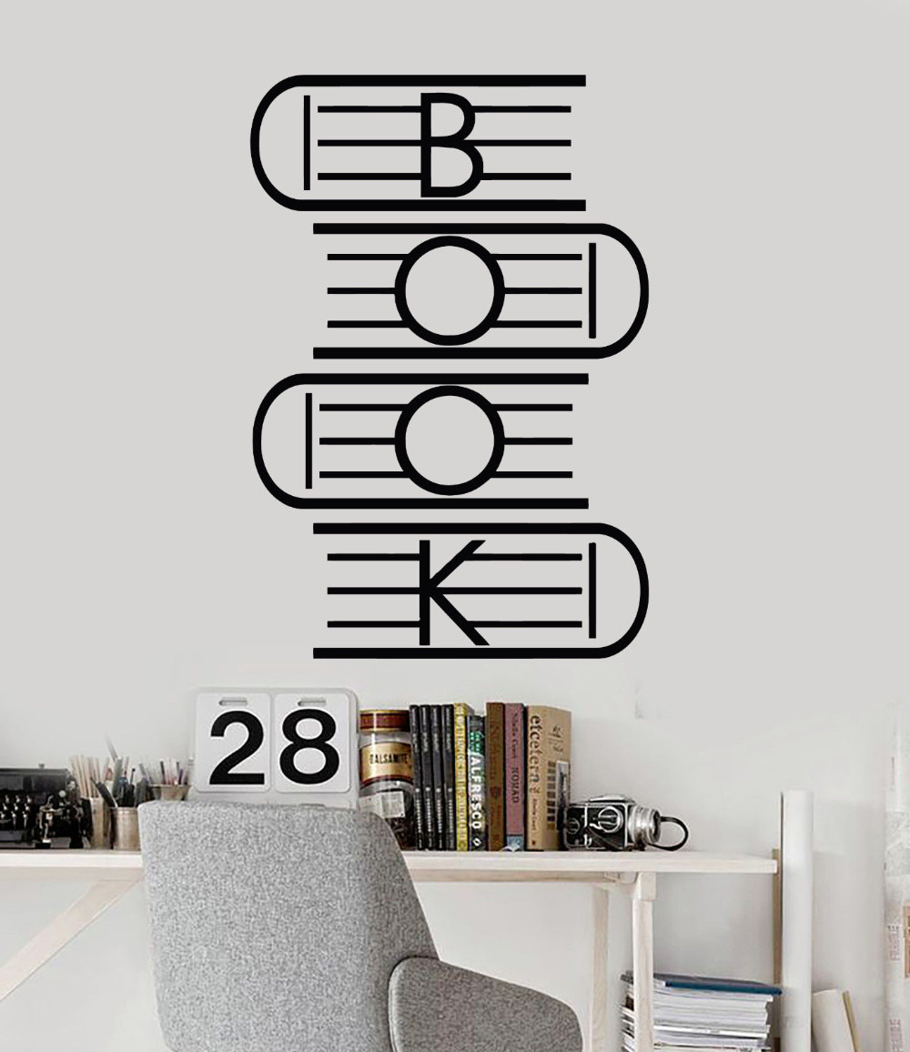 Book Vinyl Wall Stickers Reading Room