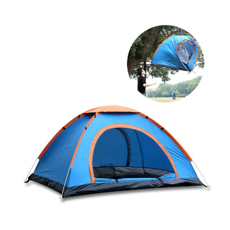 1-2 & 3-4 personnes monocouche automatique tente de voyage barbecue en plein air Camping pique-nique plage randonnée famille fête tente