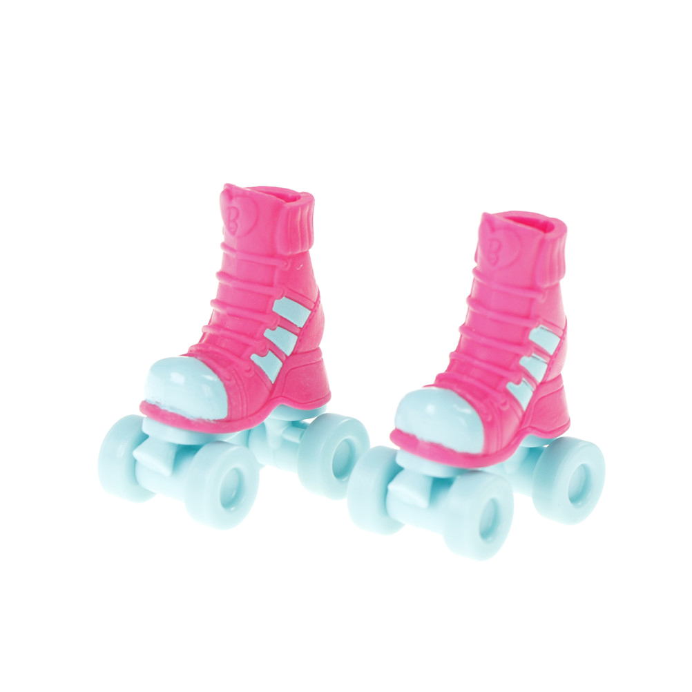 1 Pair 2.8cm Roller Skate Fancy Doll Shoes Toys For 18inch Dolls Christmas Kids Girls Gift Toy Play House Doll Accessories ...