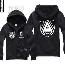 Autumn and winter plus velvet cardigan hoodies knife sweatshirt dota2 sweatshirt alliance fleece zipper sweatshirt male hoody