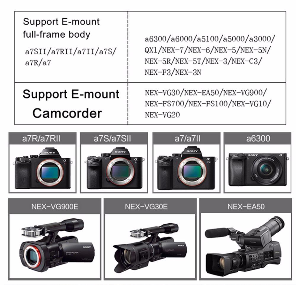 Viltrox Auto Focus Lens Adapter EF NEX III Mount lens for