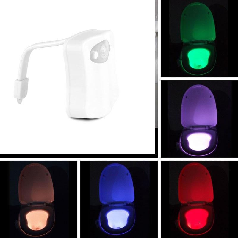 LemonBest 8 Colors LED Motion Sensor Automatic Toilet Night Light  Battery Operated Colorful Bowl Bathroom. Online Get Cheap Bathroom Sensor Lights  Aliexpress com   Alibaba