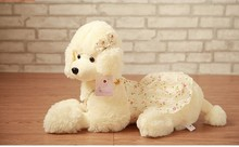 lovely new plush poodle plush toy lovely creative flower cloth poodle dog doll gift about 70cm