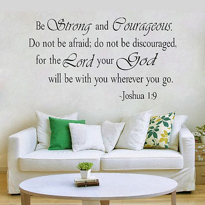 I COMMAND YOU JOSHUA 1:9 RELIGIOUS VINYL WALL DECAL SCRIPTURE LETTERING DECOR