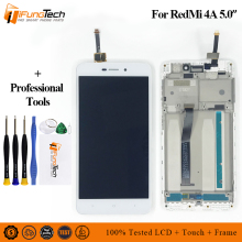 цены For Xiaomi Redmi 4A LCD Display with Frame Digitizer Redmi 4A Touch Screen Assembly Frame Touch Screen Panel Replacement Parts