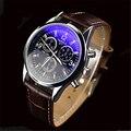 2017 venda quente da moda relógio masculino homens casual couro relógios de quartzo homens luxo marca yazole relógio de pulso relogio masculino relojes